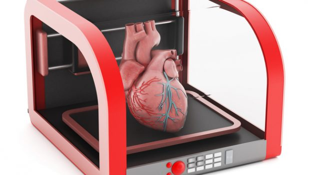 3D printer with a human heart.